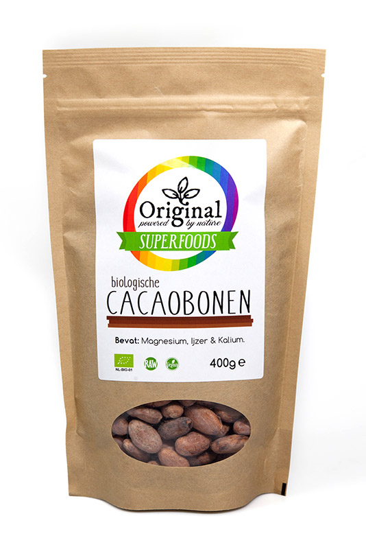 Original Superfoods Biologische Cacaobonen 400 Gram
