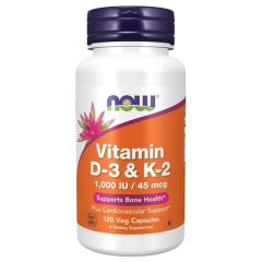 Now Vitamine D3 & K2 120 V-Caps