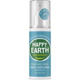 Happy Earth Deodorant Spray Cedar Lime 100 ml