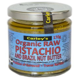 Carley's Biologische Pistachio and BrazilNut Butter 170 Gram