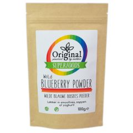 Original Superfoods Wild Blueberry (Blauwe Bosbes) Poeder 100 Gram