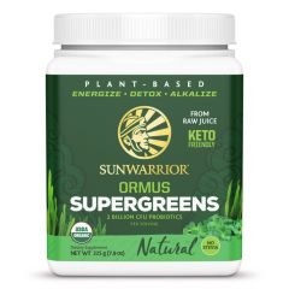 Sunwarrior Biologische Ormus Supergreens Natural 225 Gram